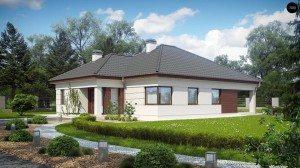 На фото: дом с четырьмя спальнями достаточно большой, поэтому возводить его целесообразно только на больших участках