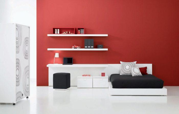На фото интерьер комнаты, где во всей красе представлен молодежный минимализм