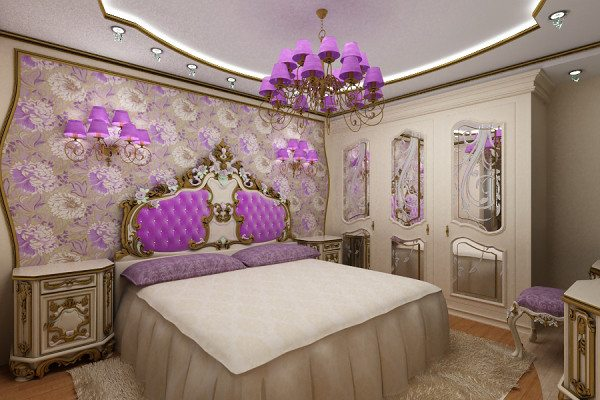 На фото изображена комната отдыха в образе барокко.