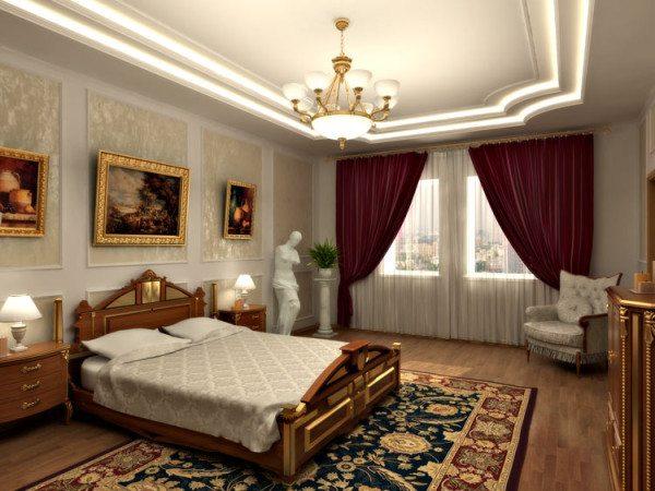 На фото изображена комната отдыха в образе классика.