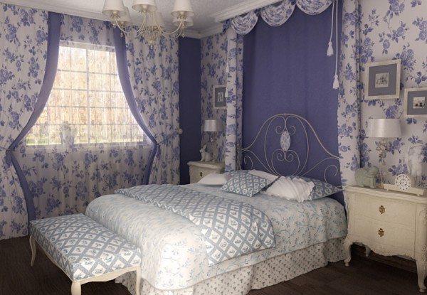 На фото изображена комната отдыха в образе прованс.