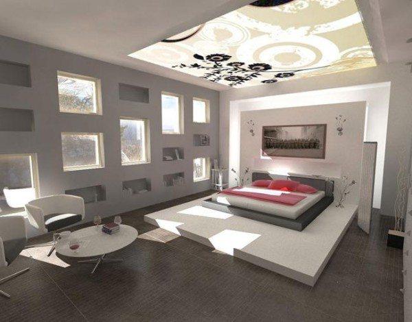 На фото изображена комната в стиле модерн.