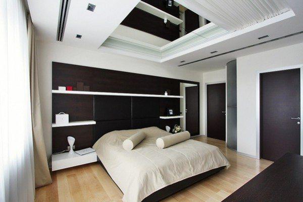 На фото многоуровневый потолок из гипсокартона: оригинальная идея.