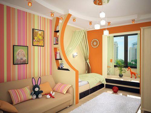 На фото пример интерьера, оформленного в ярких красках с тематической направленностью.