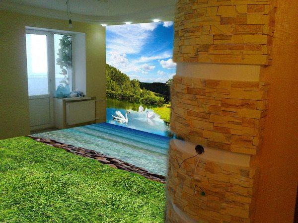 Наливные 3Д стены и полы