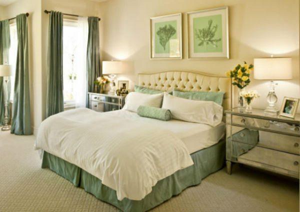 Например, спальня в мятных тонах будет радовать своей свежестью, удивительной легкостью и ощущением пространства, свободы.