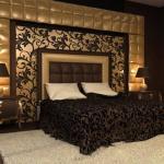 Настольные лампы в дизайне спальни