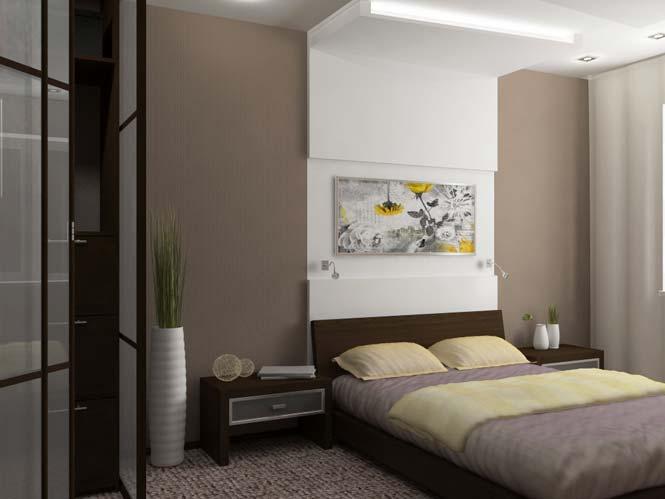 Небольшая картина, как изюминка современной спальни