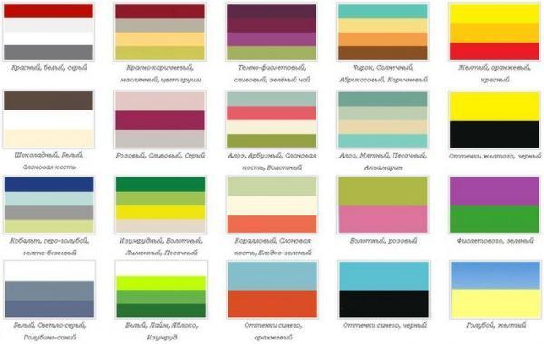 Небольшая подсказка, как правильно сочетать цвета.