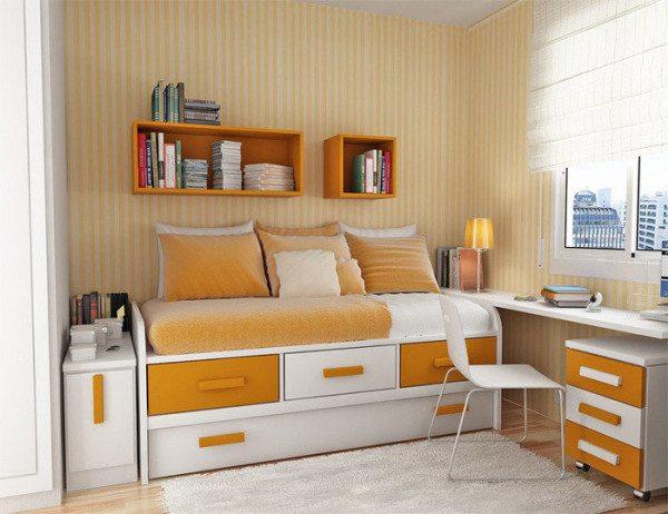 Небольшая спальня одного человека – выбор в пользу функциональности