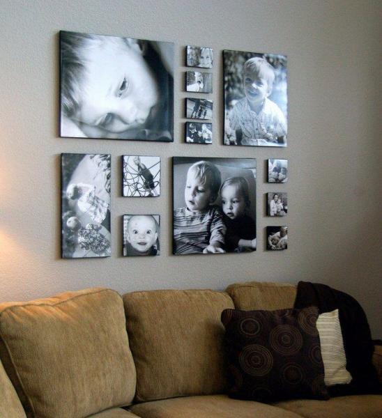 Незабываемые моменты на стене станут ярким акцентом комнаты.