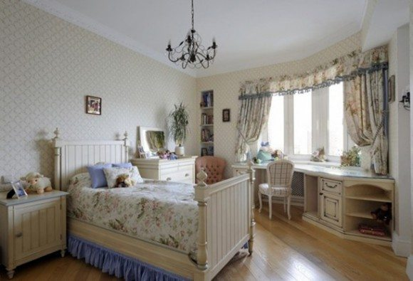 Нежная и трогательная девичья спальня