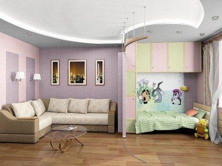 Нежная и уютная спальня для ребенка и родителей