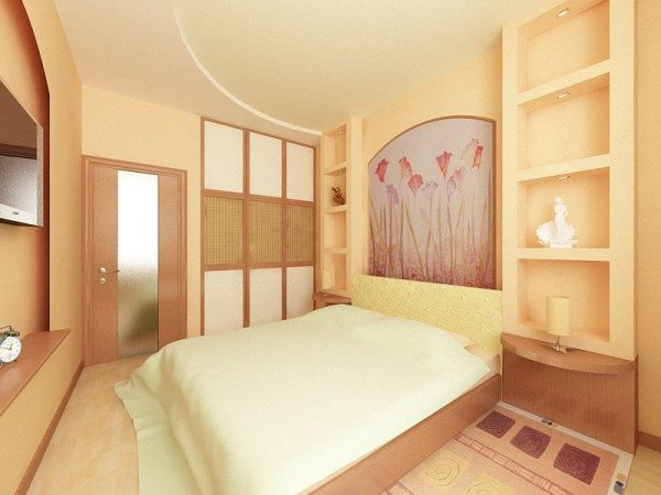 Нежные бежевые тона – наилучшее решение для комнаты отдыха, способствующее полноценному расслаблению