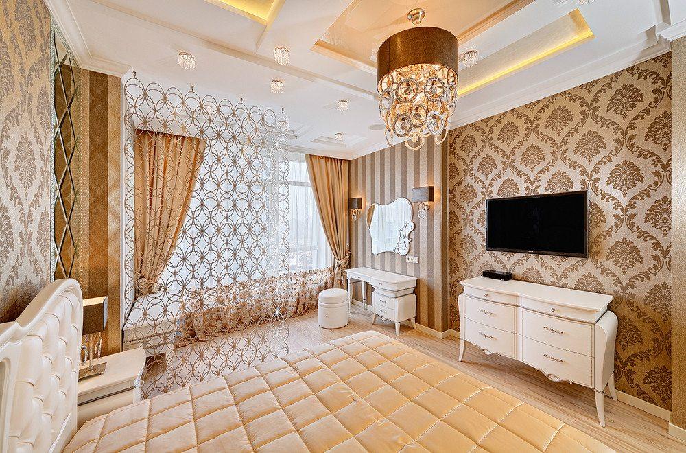 Обратите внимание на сочетание в одной комнате таких разных узоров и форм