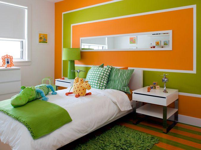 Очень часто зеленый выбирают для создания яркого и сочного дизайна в детской.