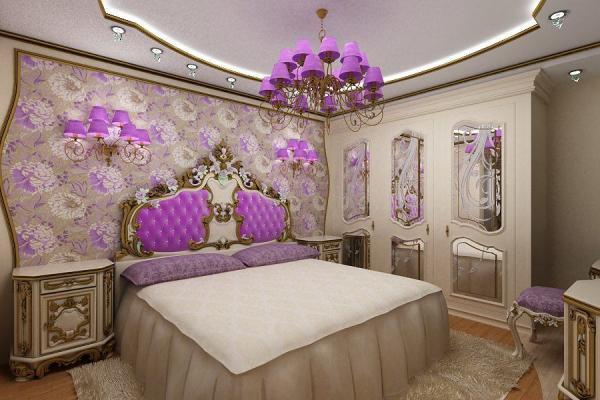 Очень женская спальня