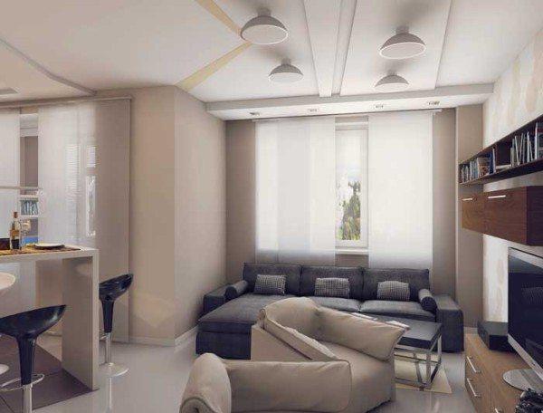 Однокомнатная современная квартира студия