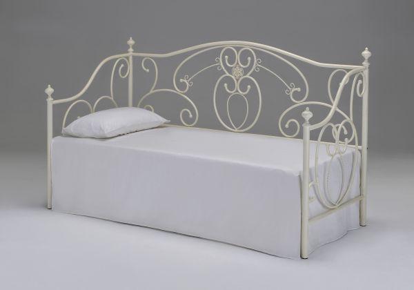 Односпальная кровать - кушетка с декоративной ковкой