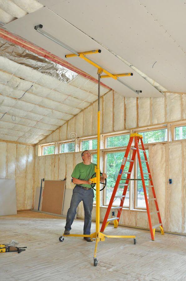 приспособление для поддержки гипсокартона на потолке