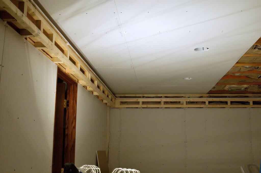 гкл на потолке готов к шпатлевке