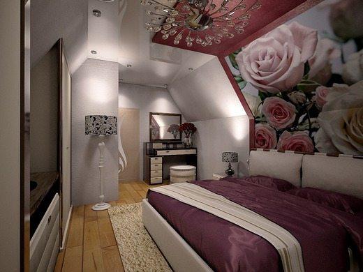 Оформление комнаты на мансарде может быть изысканным даже на небольшой площади.