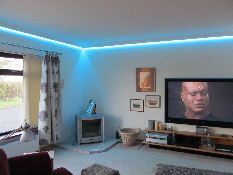 оптоволоконное освещение с голубым потайным светом