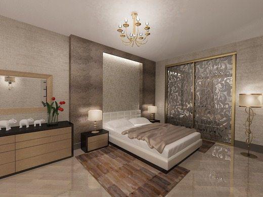 Оригинальная фактура отделки стен смотрится эффектней орнаментов и узоров