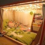 Оригинальная идея оформления спального места