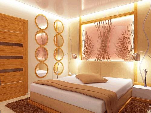 Оригинальное исполнение дизайна – светлая персиковая комната.