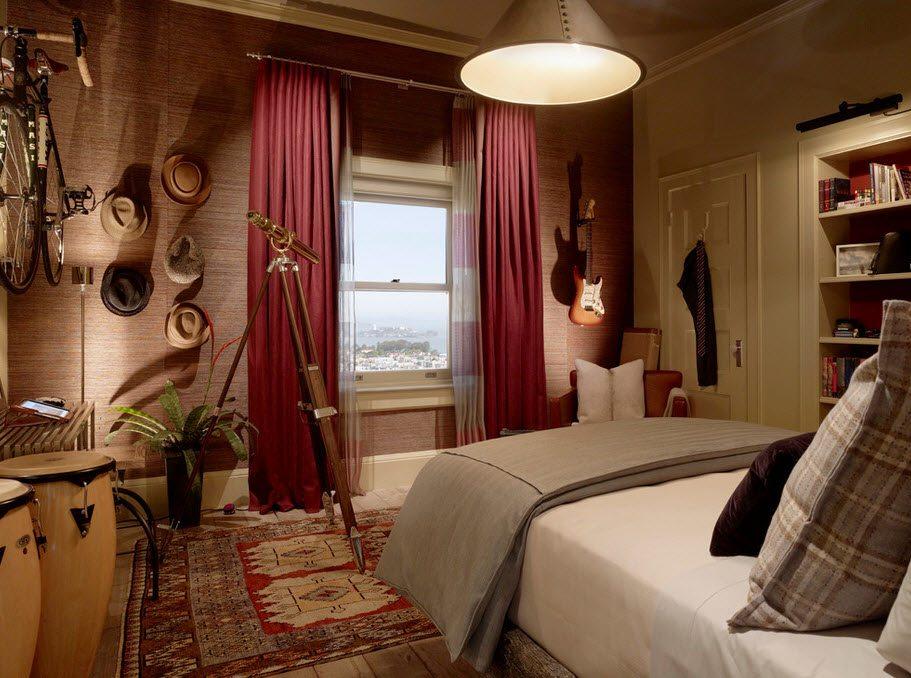 Оригинальный дизайн комнаты для подростка - мальчика 16 лет.