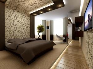 Оригинальный дизайн наклейки обоев в спальне