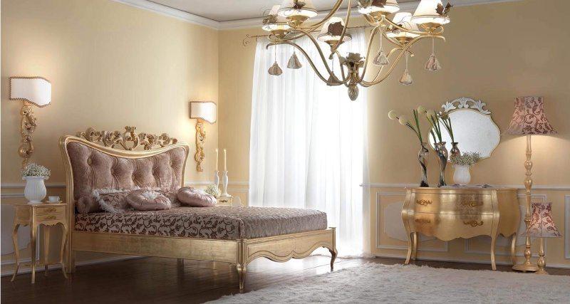 Освещение спальни в европейском стиле