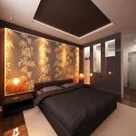 Освещение в интерьере спальни