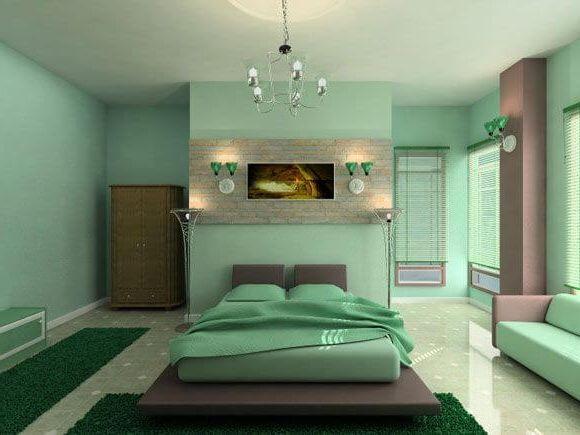 освещение в спальне в расслабляющей атмосфере