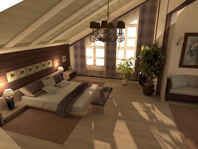 Отделка современными материалами и удачный декор создадут нам спаленку в городском стиле.