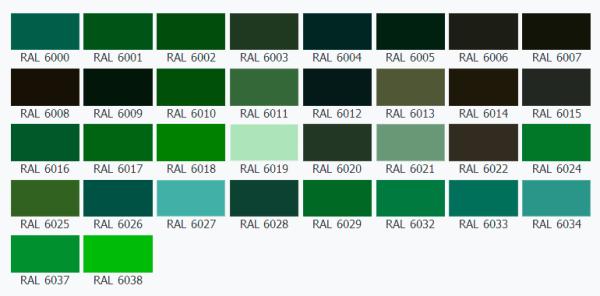 Оттенков зеленого очень много.