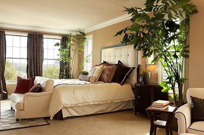 Озеленяя спальню, главное не переусердствовать