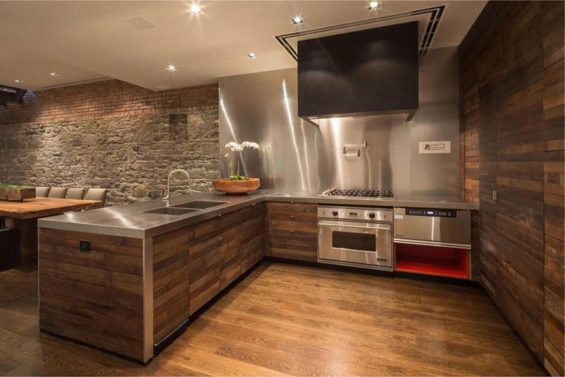 Ламинированная панель в интерьере кухни