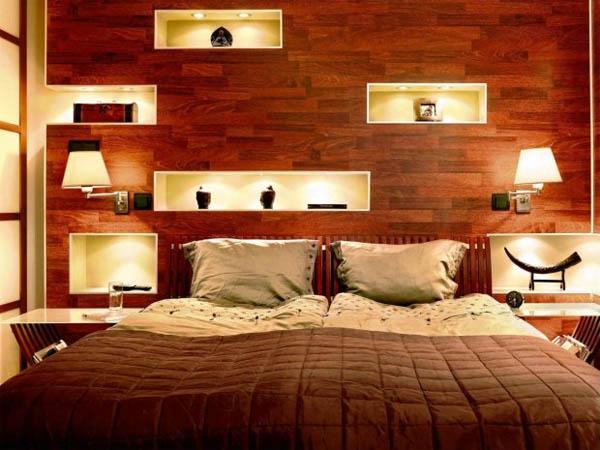 Подобрать освещение нужно так, чтобы оно способствовало комфортному сну
