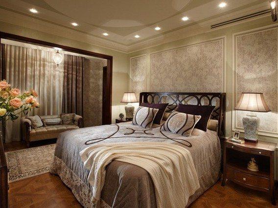 Подсветка спальни без центрального освещения