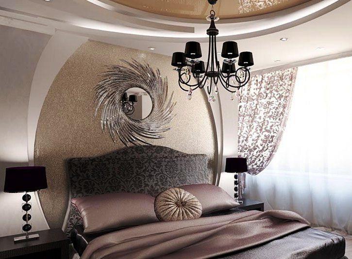 Подвесные натяжные потолки создают иллюзию купола, сглаживая углы и создавая эффект простора в небольшом помещении