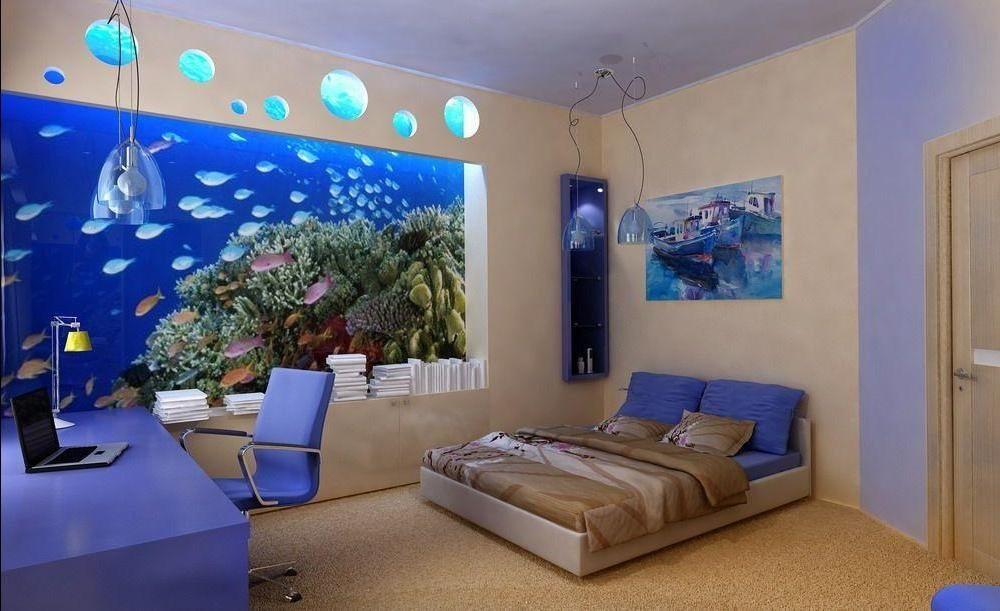 «Подводный мир» - в такой спальне согласится спать и взрослый