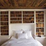 Полки в дизайне спальни