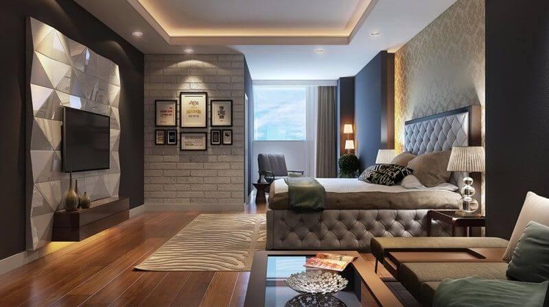 гениальный потолок из гипсокартона в спальне