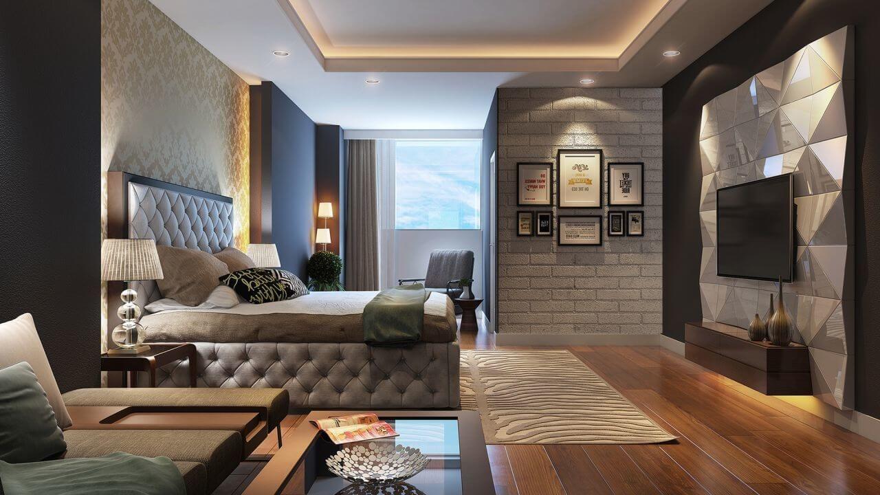всё в этой спальне замечательно, особенно потолок