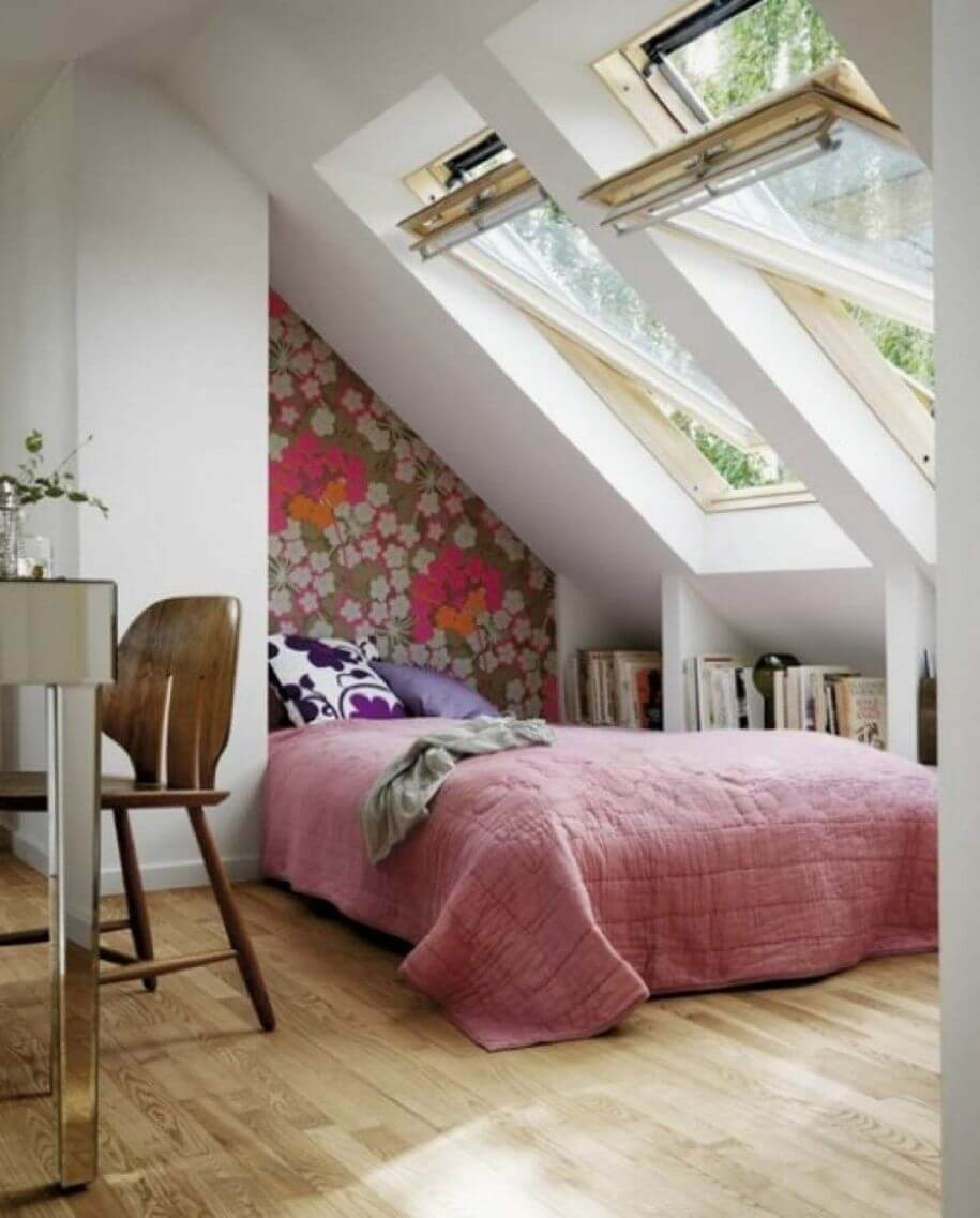 потолок в спальне на чердаке из гипсокартона
