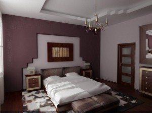 Потолок в маленькой спальне, в средней, большой всегда примет гипсокартон, но обязательно позаботьтесь о нескольких уровнях
