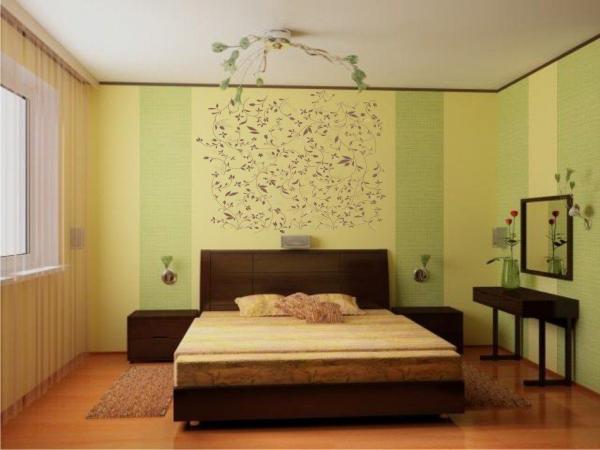 Прекрасный пример, когда обои и спальня прекрасно сотрудничают друг с другом по созданию единого ощущения уюта (фото «С»)