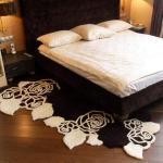 Прикроватный коврик с цветами
